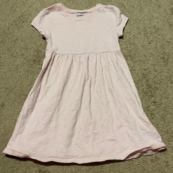Solid pink toddler dress
